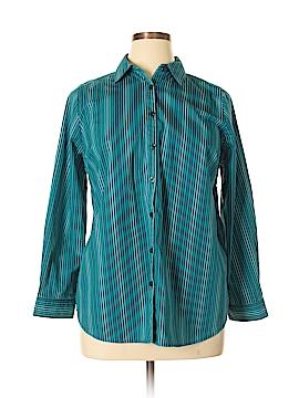 Roaman's Long Sleeve Button-Down Shirt Size 14W