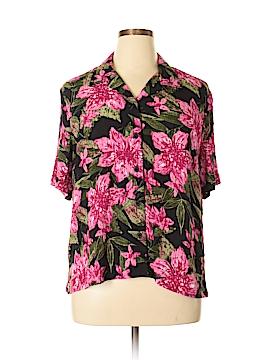 Napa Valley Short Sleeve Button-Down Shirt Size XL (Petite)