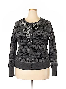 Eddie Bauer Wool Cardigan Size 2X (Plus)