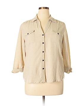 Cathy Daniels 3/4 Sleeve Button-Down Shirt Size XL