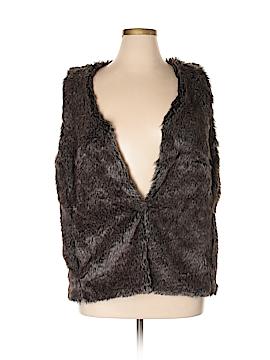 Ava & Viv Faux Fur Vest Size 1X (Plus)