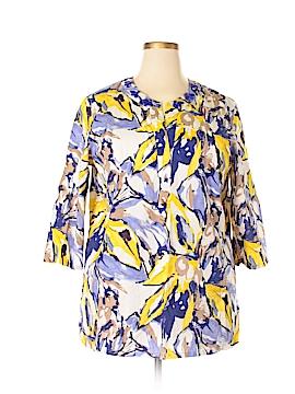 Jones Wear 3/4 Sleeve Button-Down Shirt Size 18 (Plus)