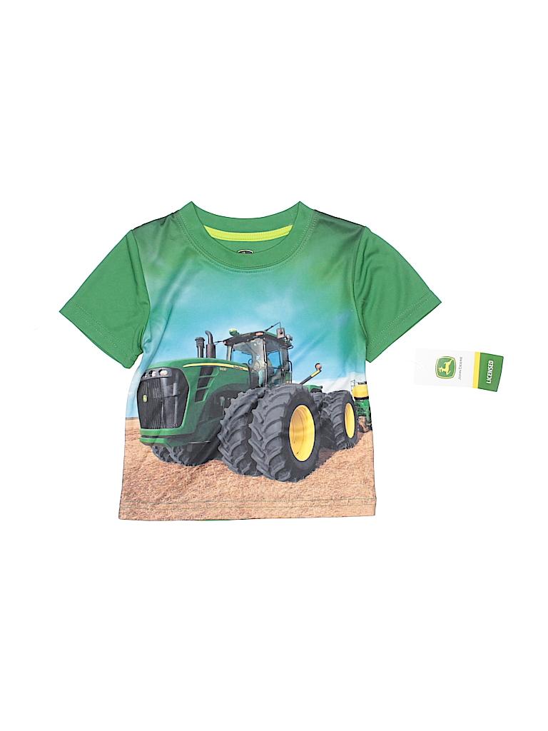 ac022d17d John Deere 100% Polyester Graphic Green Short Sleeve T-Shirt Size 12 ...