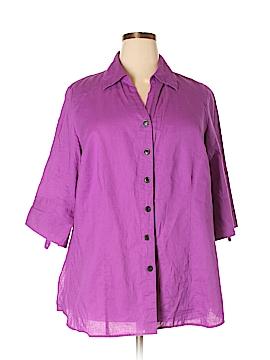 Venezia 3/4 Sleeve Button-Down Shirt Size 18/20 (Plus)