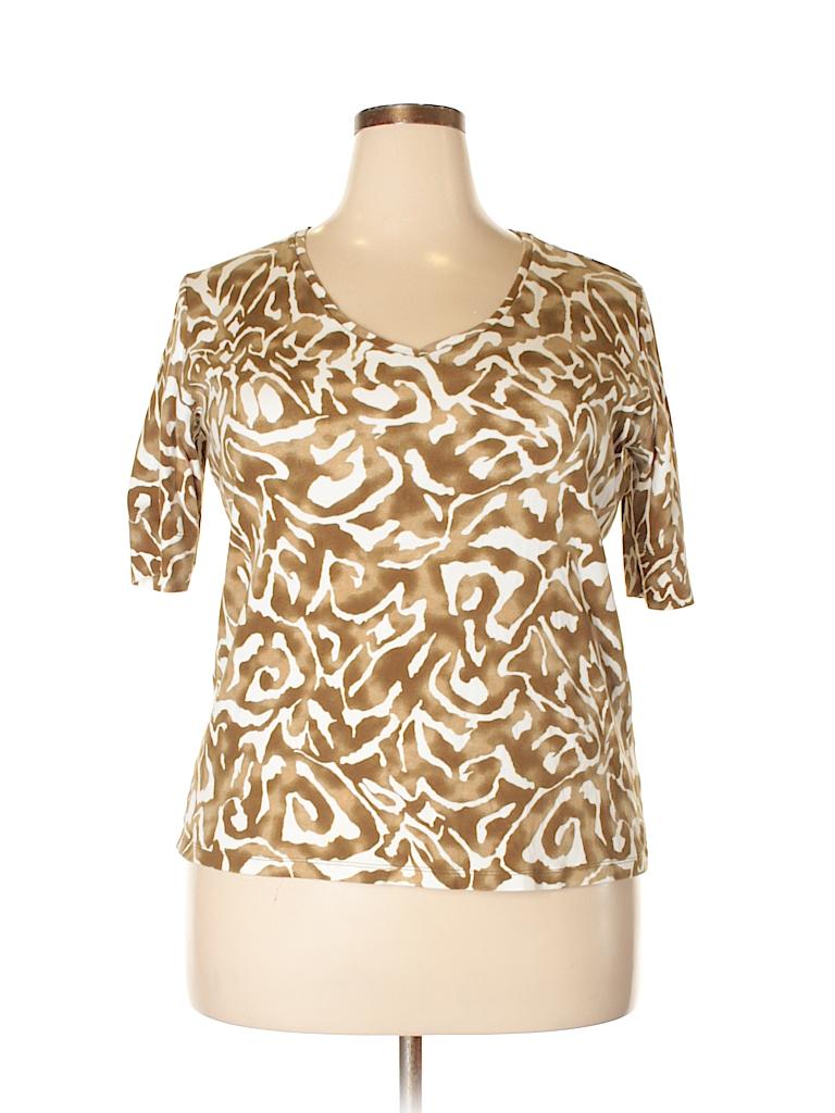Jones New York Women Short Sleeve Top Size 1X (Plus)