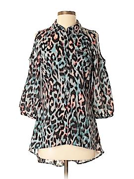 Nicole Miller 3/4 Sleeve Button-Down Shirt Size XS
