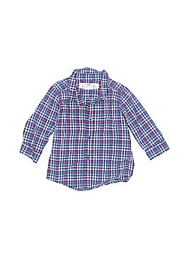 H&M Long Sleeve Button-Down Shirt Size 3-6 mo