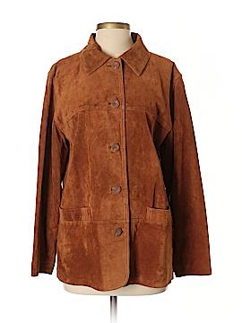 St. John's Bay Leather Jacket Size S (Petite)