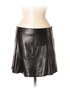 Veronica Beard Leather Skirt Size 8