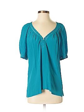 Halogen Short Sleeve Silk Top Size XS