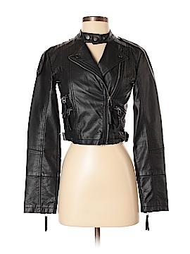 GB Faux Leather Jacket Size XS