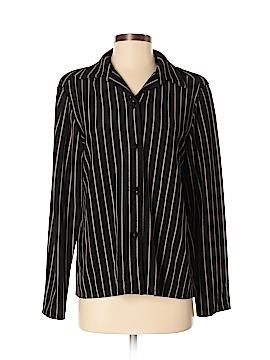 Susan Graver Long Sleeve Button-Down Shirt Size S