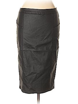 FASHION TO FIGURE Faux Leather Skirt Size 0X (0) (Plus)