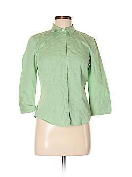 Ann Taylor Factory 3/4 Sleeve Button-Down Shirt Size 4