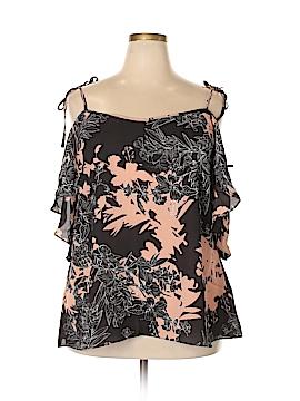City Chic Short Sleeve Blouse Size 18 (M) (Plus)