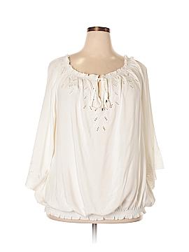 City Chic 3/4 Sleeve Blouse Size 24 (XL) (Plus)