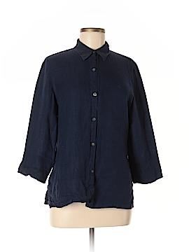 Ralph Lauren 3/4 Sleeve Button-Down Shirt Size M