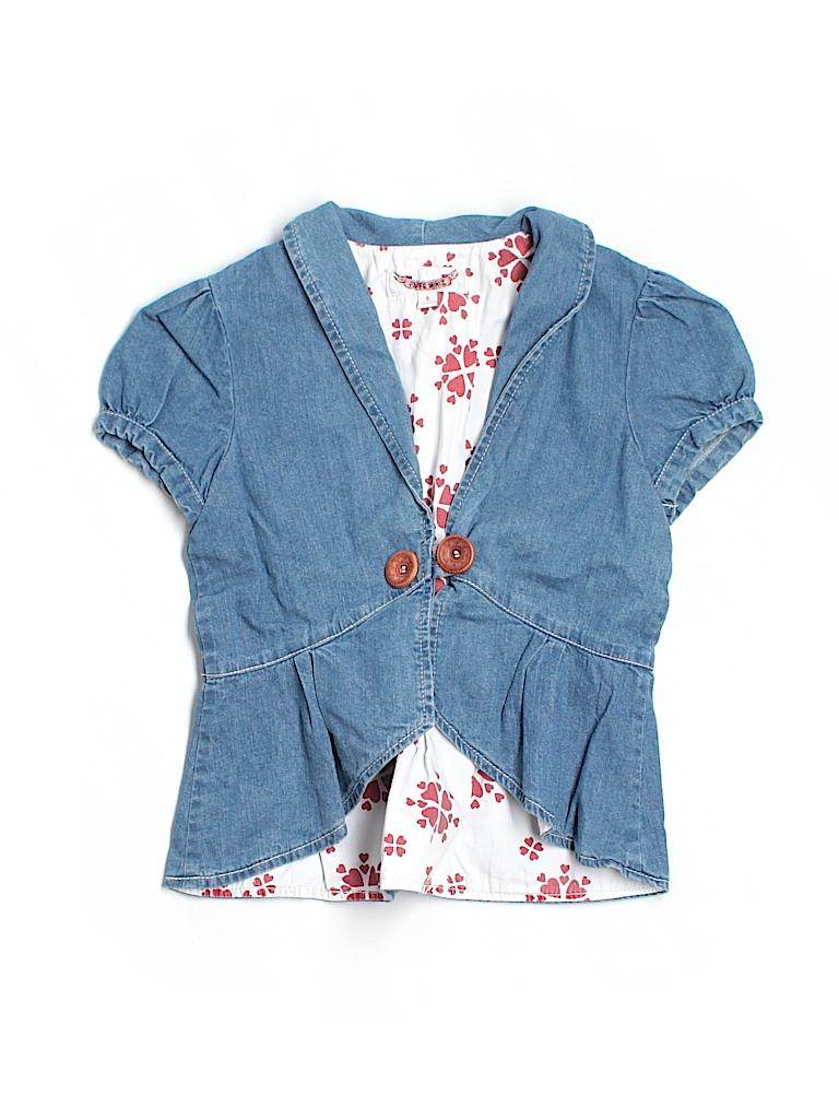 46ad22339cf Paper Wings 100% Cotton Blue Denim Jacket Size 5 - 69% off