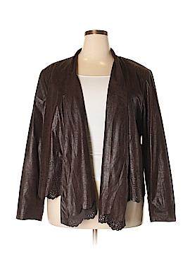 INC International Concepts Faux Leather Jacket Size 3X (Plus)