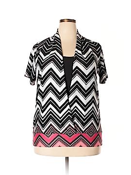 Perceptions Woman Short Sleeve Top Size 1X (Plus)
