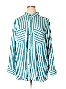 Melissa McCarthy Seven7 Long Sleeve Button-Down Shirt Size 2X (Plus)