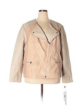 Modamix By Brandon Thomas Faux Leather Jacket Size 26 (Plus)