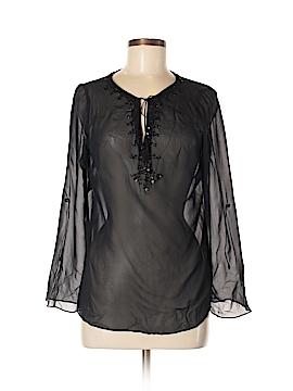 Tapemeasure Long Sleeve Silk Top Size 8