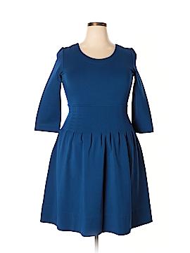 Pink Tartan Casual Dress Size XL