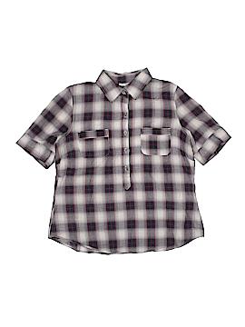 Girl Krazy Short Sleeve Button-Down Shirt Size L (Kids)