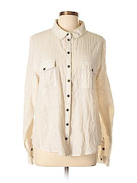 Free World Long Sleeve Button-Down Shirt Size L