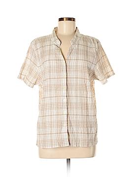 BonWorth Short Sleeve Button-Down Shirt Size M (Petite)