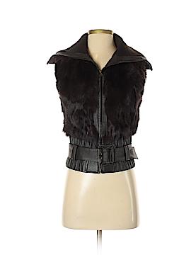 Heart Moon Star Faux Fur Vest Size S