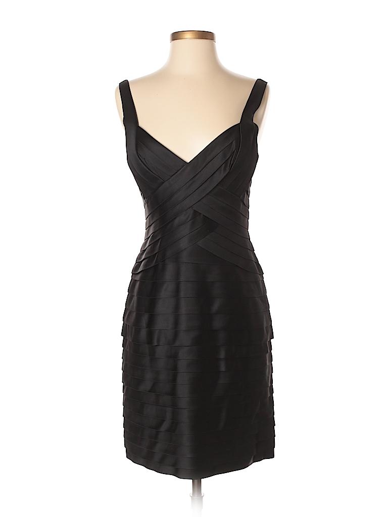 BCBGMAXAZRIA Solid Black Cocktail Dress Size 8 - 80% off | thredUP
