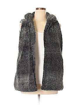 Peach Love Cream California Faux Fur Vest Size L