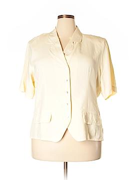 Allison Taylor Silk Blazer Size 2X (Plus)