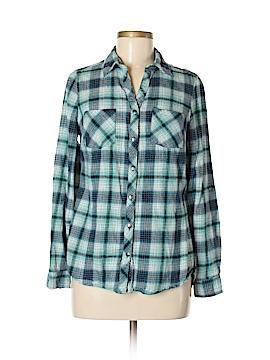 Falls Creek Long Sleeve Button-Down Shirt Size M