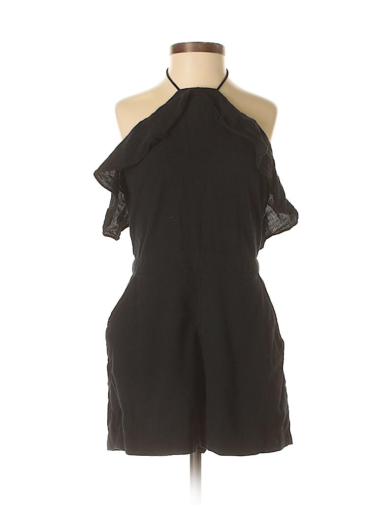 239e7815ec0 Abercrombie   Fitch 100% Cotton Solid Black Romper Size 2 (Petite ...