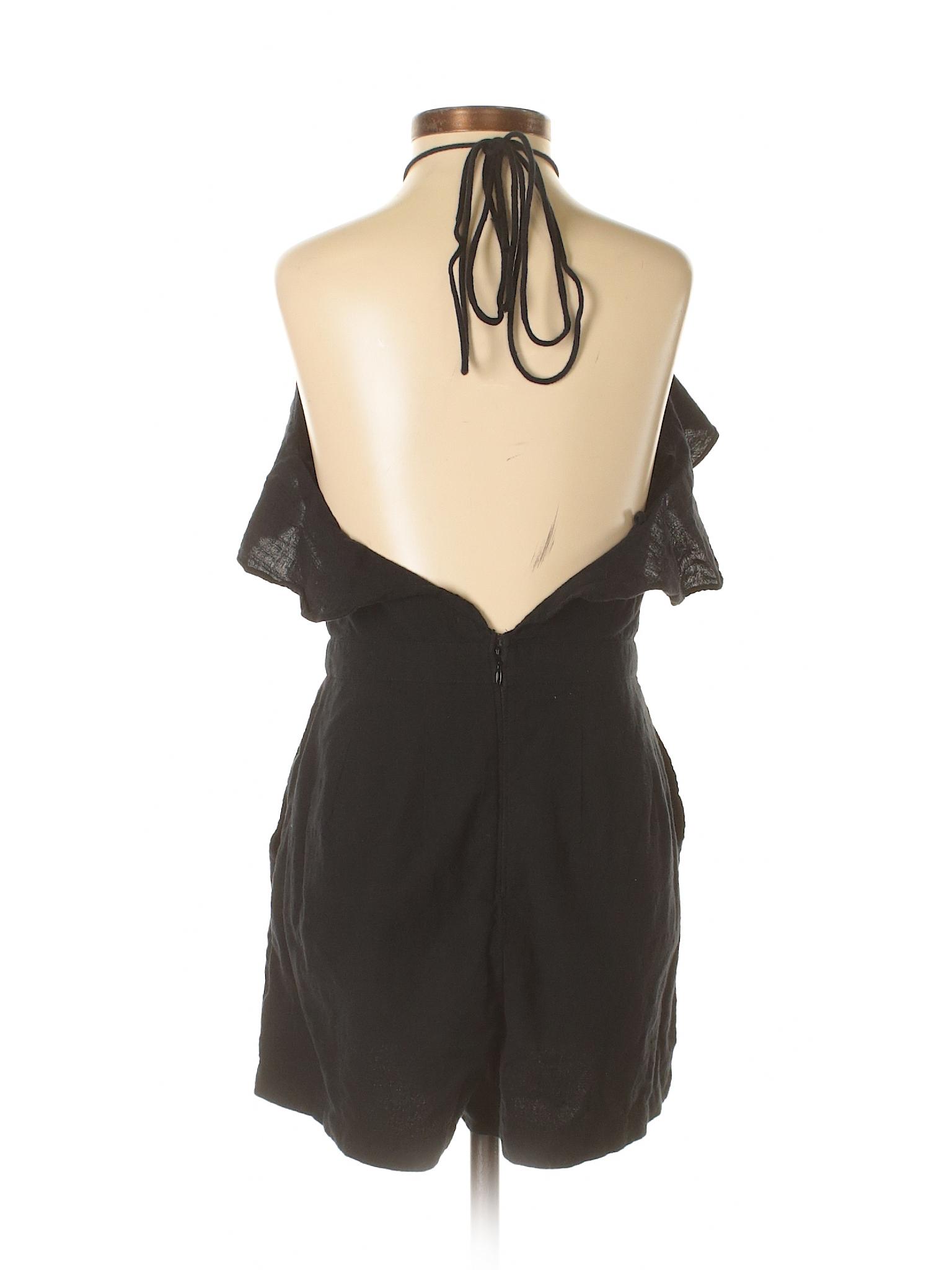 075932ac5d9 Abercrombie   Fitch 100% Cotton Solid Black Romper Size 2 (Petite) - 63%  off