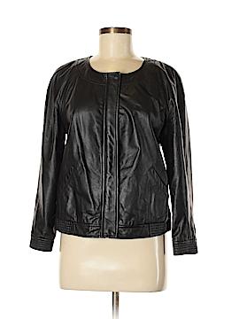 Halogen Leather Jacket Size M