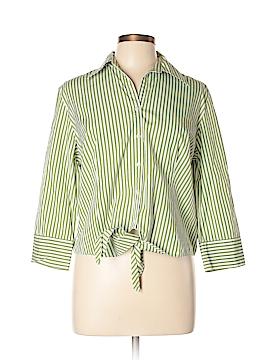 Ann Taylor LOFT 3/4 Sleeve Button-Down Shirt Size 14