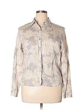 Nine West Long Sleeve Button-Down Shirt Size 14