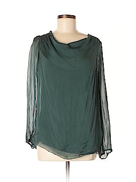 Carla Conti Long Sleeve Silk Top Size M