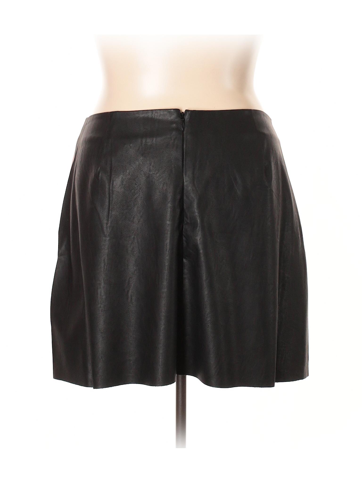 Faux Leisure Skirt Leather Chic City winter tqxgrPwq