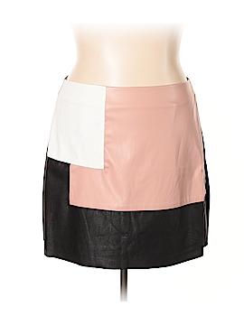 City Chic Faux Leather Skirt Size 18 Plus (M) (Plus)
