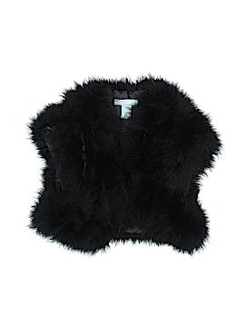 Betsey Johnson Faux Fur Vest Size 8