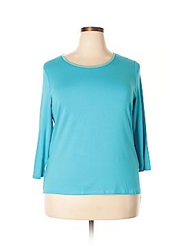 Peter Nygard 3/4 Sleeve Top Size 1X (Plus)