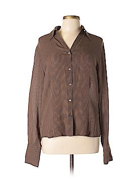 Eddie Bauer Long Sleeve Silk Top Size L