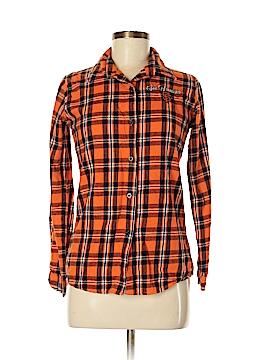 MLB Long Sleeve Button-Down Shirt Size M