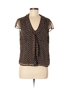 AK Anne Klein Short Sleeve Silk Top Size 8