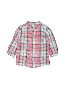 Bout'chou Long Sleeve Button-Down Shirt Size 18 mo